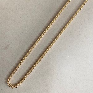 chain style gold-plated necklace